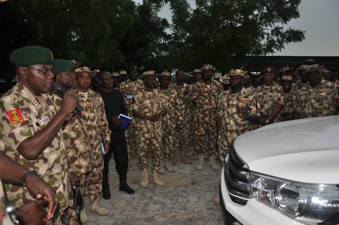 OPERATION HADIN KAI: COAS ISSUES OFFICIAL VEHICLES TO REGIMENTAL SERGEANT MAJORS OF THE NIGERIAN ARMY