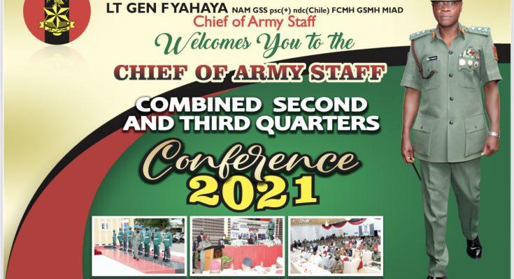 COAS' Address AT Nigerian Army 3rd Quarter Conference